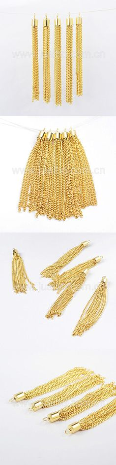 Other Jewelry Design Findings 164356: 3~3.8 Gold Plated Copper Brass Curb Chain Tassels Jewelry Findings Diy Making -> BUY IT NOW ONLY: $49.0 on eBay!