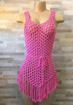 Women Beach Cover Up White Bikini Cover - Diy Crafts - maallure Pull Crochet, Crochet Crop Top, Filet Crochet, Crochet Lace, Crochet Bikini, Crochet Beach Dress, Crochet Skirts, Crochet Clothes, Crochet Designs