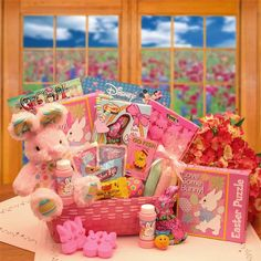 Buy this Little Girl Easter Activity Basket from All About Gifts and Baskets today!