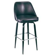 Swivel Square Frame Bucket Seat Bar Stool