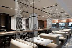 Restaurant Design : Holyfields by Ippolito Fleitz Group Restaurant Berlin, Restaurant Booth, Restaurant Seating, Restaurant Interiors, Cool Restaurant Design, Restaurant Concept, Bar Interior, Interior Styling, Interior Design