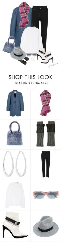 """Acne Studios Klara  wool-blend coat"" by shadedlady ❤ liked on Polyvore featuring Acne Studios, Shrimps, Carolina Amato, Sophie Buhai, Vetements, RetroSuperFuture, Off-White and Dsquared2"