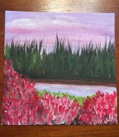 """""""Natura in rosa"""" acrilico su carta"""