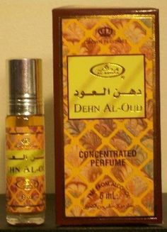 Dehn Al-Oud - 6ml (.2 oz) Perfume Oil by Al-Rehab (Crown Perfumes) by Al-Rehab. $3.75. Al-Rashad Books sells genuine, world famous, Al Rehab concentrated perfume oil. High quality, exotic, longer lasting and free from alcohol.. Comes in a 6ml (.2 Ounce) roll-on vials makes it easy to anoint, One of the most popular perfume oil brands in the world. Inexpensive price does not sacrifice high quality. A true value. A little of this delightful perfume oil goes a lo...