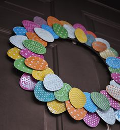 Make an aluminum can Easter Egg Wreath @savedbyloves #sizzix #DistressPaint @Johnnie (Saved By Love Creations) Lanier