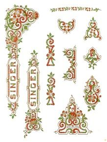 """Singer 15 Class """"Tiffany Style""""  Multi Color Decals"""