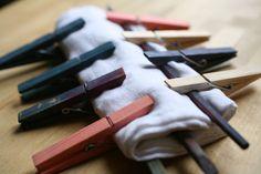 """""""shibori"""" technique using clips- technique de pliage et maintien avec des pinces pour shibori graphique"""