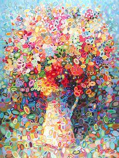 a shower of petals