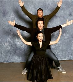 #AbrahamsArmy Michael Cudlitz + Josh McDermitt + Christian Serratos #TheWalkingDead #TWD #TWDFamily