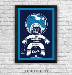 Poster Nenhum de Nós - O Astronauta de Mármore
