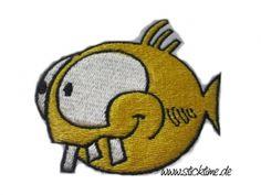 Aufnäher verrückter Fisch UNIKAT