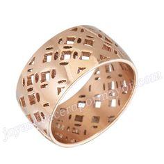 Material: Acero Inoxidable   Nombre:Anillos oros de moda de acero inoxidable 316l de forma  cesto, al por mayor   Model No.:SSRG073   Peso:4.12G