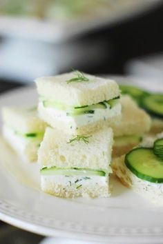 Cucumber Tea Sandwiches ~ 3 spreads & 3 ways! Flavorfully-delicious Cucumber Tea Sandwiches ~ 3 spreads & 3 ways! Cucumber Tea Sandwiches, Finger Sandwiches, Tea Sandwich Recipes, Tea Party Sandwiches Recipes, Sandwich Platter, Picnic Recipes, Party Recipes, Brunch Recipes, Gastronomia