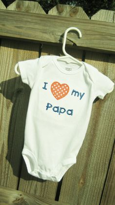 I love my aunt/uncle/grandma/grandpa/cousin personalized short sleeve onesie on Etsy, $17.00