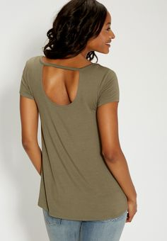 the 24/7 tee with bar back (original price, $24.00) available at #Maurices