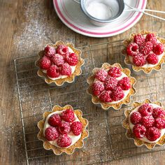 Raspberry tartlets with crème patissiere | dessert recipes | Red Online
