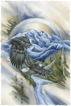 Soaring Above It All ~ painting by Jody Bergsma