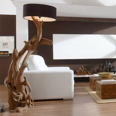 Standlampe RIAZ XL 200 cm aus Teakholz
