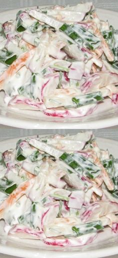 New Chicken Recipes, Salad Recipes, Healthy Recipes, Healthy Weight Gain, Russian Recipes, Cabbage, Easy Meals, Vegetarian, Tasty