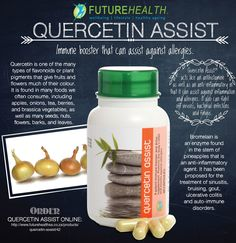 Quercetin Assist A Potent #Immune Booster and #Detoxifying #Supplement. It also protects the body's #DNA and assists against #allergies. #futurehealthSA You can order Quercetin Assist online at http://online.vpmedical.co.za/index.php?route=product/product&path=64_67&product_id#utm_sguid=158307,bd8ade7b-152e-e83e-1009-1f02475ba682