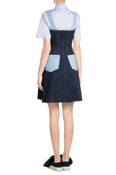 DenimDungareeMiniDressfromNATASHAZINKO | Luxury fashion online | STYLEBOP.com
