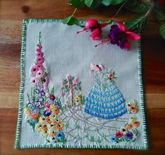 Check out this item in my Etsy shop https://www.etsy.com/uk/listing/473982429/hand-embroidered-crinoline-lady-small