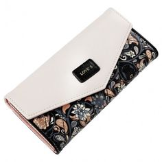 Women Fashion Synthetic Leather Foldable Purse Credit ID Card Holder Trifold Long Wallet