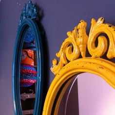 funky baroque mirror by the forest & co | notonthehighstreet.com Baroque Mirror, Cool Mirrors, Rococo, Home Accessories, Projects To Try, Sweet Home, Indoor, Cool Stuff, Prints