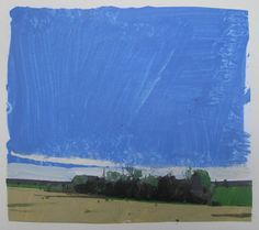 May Stand Original Spring Landscape Collage Painting by Paintbox