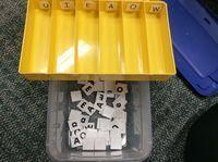 Sort the letter tiles Work Box/ Task