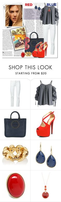 """Red, White & Blue: Celebrate the 4th!_Going with Gingham"" by msmith801 ❤ liked on Polyvore featuring GALA, Closed, Chicwish, Tory Burch, Trina Turk, Fantasy Jewelry Box and Thierry Lasry"
