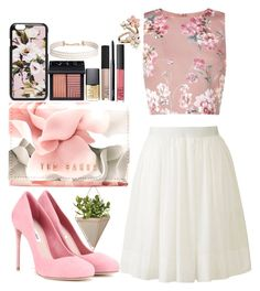 """Petals"" by katykitty5397 ❤ liked on Polyvore featuring Umbra, Miu Miu, Uniqlo, Miss Selfridge, Ted Baker, Dolce&Gabbana, Accessorize, Humble Chic, NARS Cosmetics and Pink"