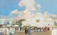 The Fishery-Mosque (La Mosquée de la Pêcherie), Algiers Léon Cauvy - Date unknown