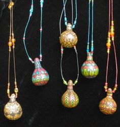 ~ Gourd necklaces ~                                                                                                                                                      More