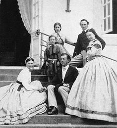 Engagement photo with Princess Dagmar & Tsarevich Nicolai Alexandrovich. circa 1864.