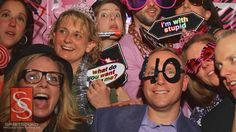 Photo booth at a 40th birthday party - SpiritSound Production Services, Carlisle Pa. www.spiritsoundpro.com #SSPro #photobooth #birthday #party