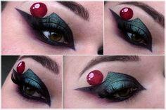 Sailor Pluto inspired makeup by http://milchschokis-beautyecke.blogspot.de/2016/02/Sailor-Pluto-Blogparade.html