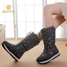 black high version winter women boots snowflake upper lace-up zipper high leg boots female snow boots big size 40 41 warm boots 	100% of buyers enjoyed this product!	25 orders List price: US $77.47 Price: US $54.23 & FREE Shipping You save: US $23.24 (30%)