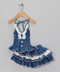 f024893f6e Lele for Kids Medium Wash Denim Lace Halter Top   Skirt - Toddler   Girls