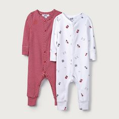 09d5d2890065 London Print   Stripe Sleepsuit - Set of 2