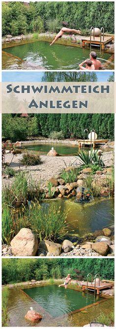 Wieso einen Swimmingpool bauen, wenn man auch einen schönen, natürlichen Schwimmteich haben kann? Wir zeigen, wie man einen Schwimmteich-Bausatz aufbaut.