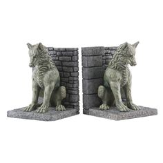 yes...I want to put my game of Thrones books between these bookends...so sue me! Fab.com | GOT Direwolf Bookends by Dark horse Comics