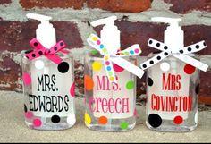 Hand sanitizer. Teacher gift