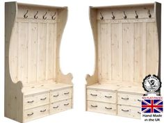 Solid Pine Storage Bench, 4ft x 5ft Tall Handcrafted & Waxed Monks Bench, Settle, Pew, Hallway Seat with Lifting Lid Shoe Storage Seat & Integral Coat Rack. Choice of colours. No flat packs, No assembly, http://www.amazon.co.uk/dp/B00F4BN2F0/ref=cm_sw_r_pi_awd_L02Osb1Q69QTS