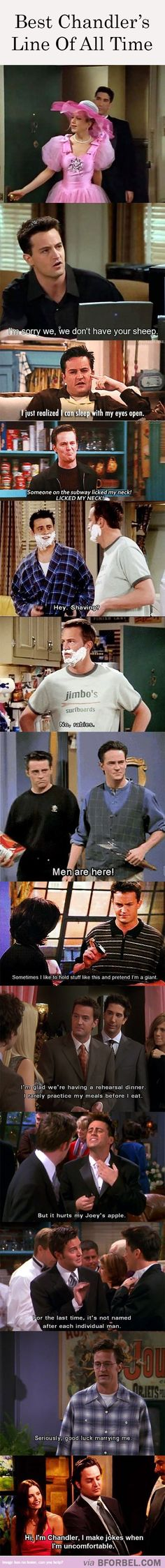 Everything Chandler says is hilarious. But these are some good ones.