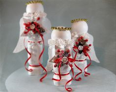 Christmas Crafts Made with Deck Spindles | Make some Christmas angels, with wood spindles ~ by another bright ...