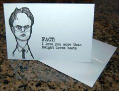 Image result for dwight schrute valentines day card