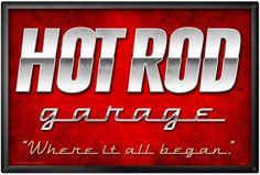 Blechschild Hot Rod Garage XL-D0473