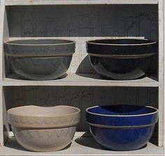 Clay City Pottery Stoneware, a family owned business in Indiana, USA, since 1885. I have loved using their bowls, pie plate, and casseroles for the past 20 yrs. My favorite glaze: cobalt blue.