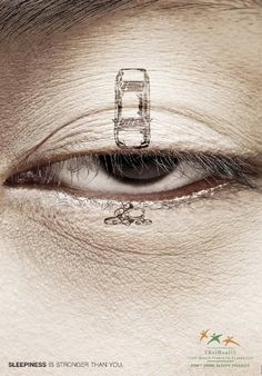 ad for driving awareness... what happens when you fall asleep at the wheel?